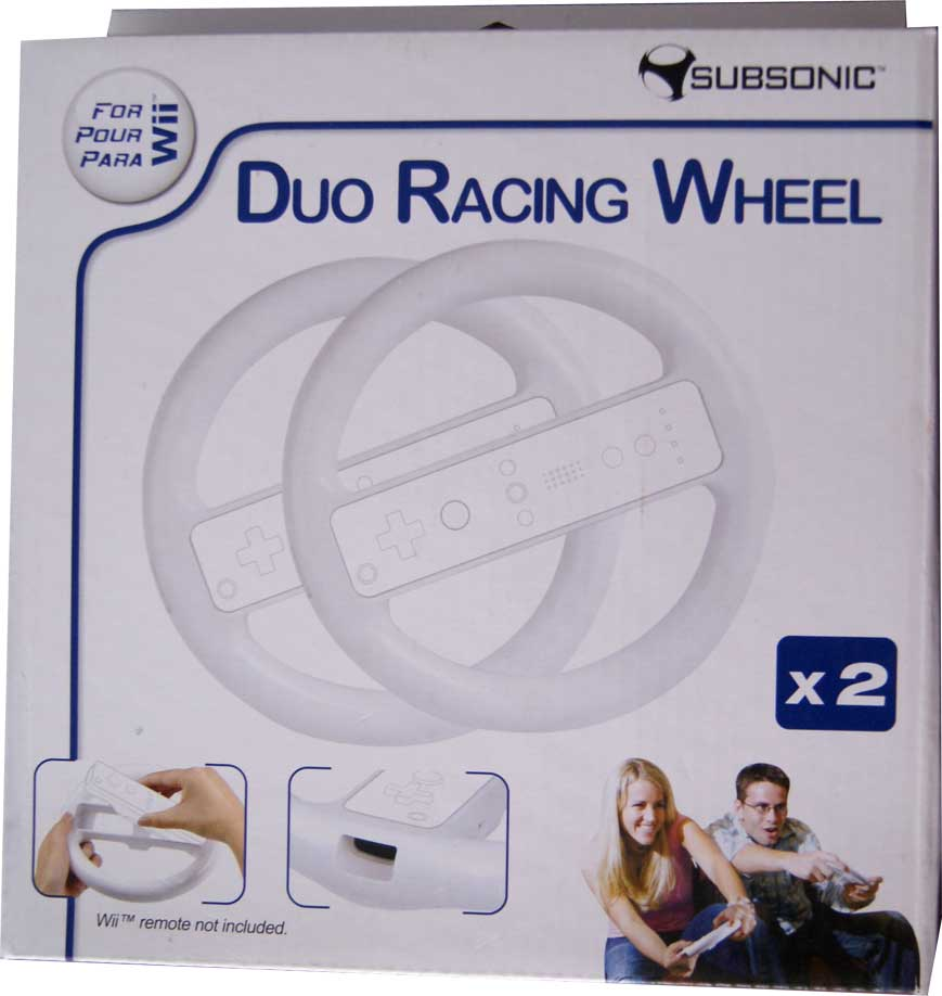 Duo Racing Wheel Blanco Wii