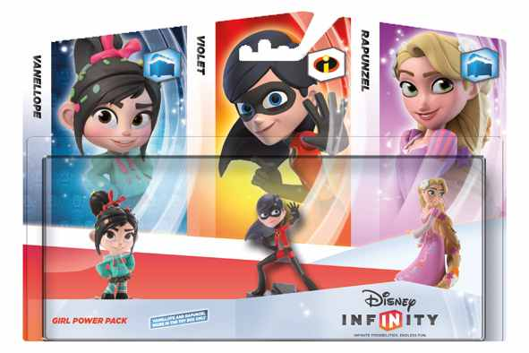 Ver Disney Infinity Pack 3 Figuras Chicas Vanell Violet Rapun