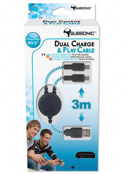 Dual Charge  Play Cable Subsonic Wii U