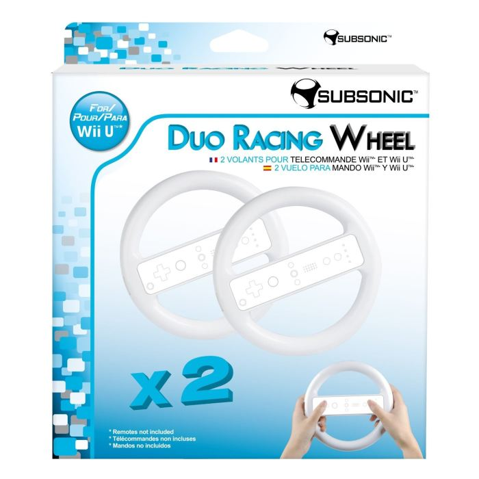Duo Racing Wheel Subsonic Wii  Wii U