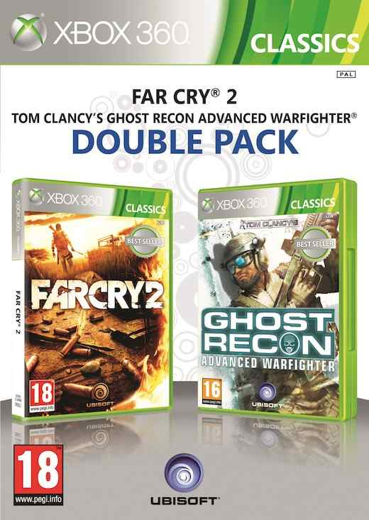 Ver FAR CRY 2  GHOST RECON ADVANCED WARFIGHTER 2 X360