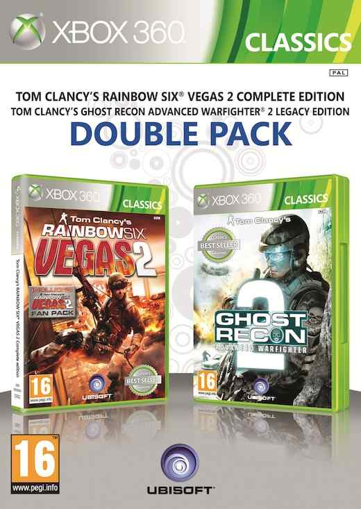 Ver GHOST RECON ADVANCED WARFIGHTER 2  RAINBOW SIX VEGAS 2 X360