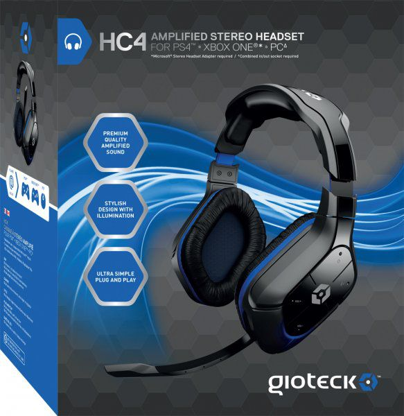 Ver Headset Amplified Stereo Con Cable HC4 Gioteck Ps4Xbox One