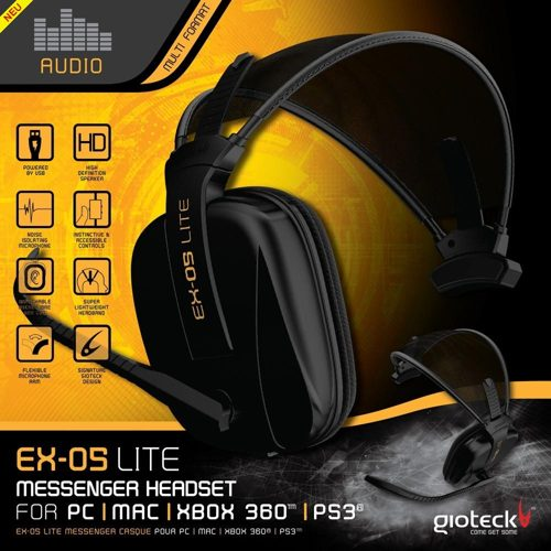 Headset Lite Messenger Ex-05 Gioteck Ps3x360pc