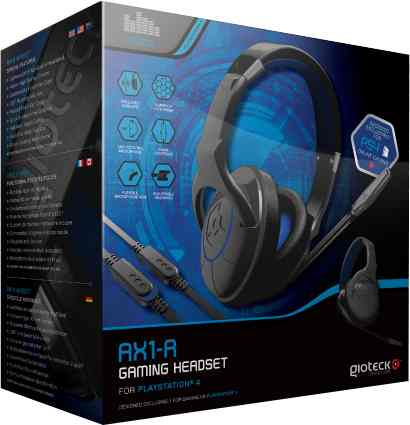 Headset Stero Wired Ax1 Gioteck Ps4