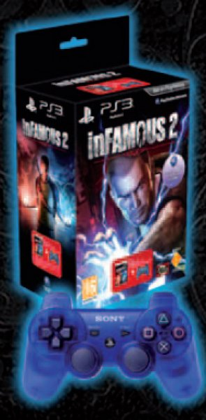 Infamous 2   Dualshock 3 Crimson Blue Ps3