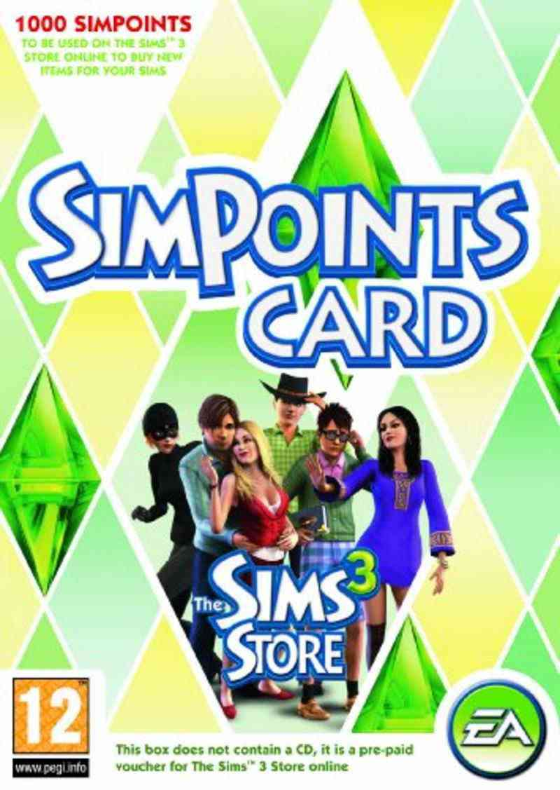Los Sims 3 Simpoints Retail Card Pc