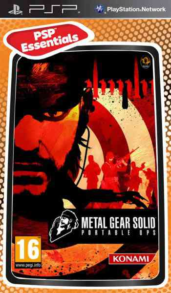 Metal Gear Solid Portable Ops Essential Psp