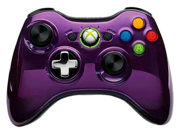 Mando Inalambrico Serie Chrome Purple X360