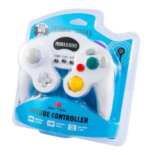 Mando Compatible Blanco para Wii y Game Cube Retro