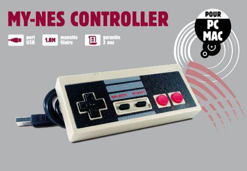 Ver Mando Compatible para PC Modelo Nes Classic Retro