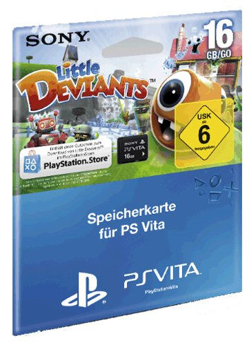 Memory Card 16 Gb Little Deviants Voucher Sony Ps Vita