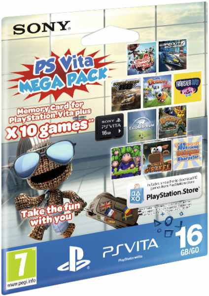 Memory Card 16 Gb Mega Pack 10 Juegos Sony Ps Vita