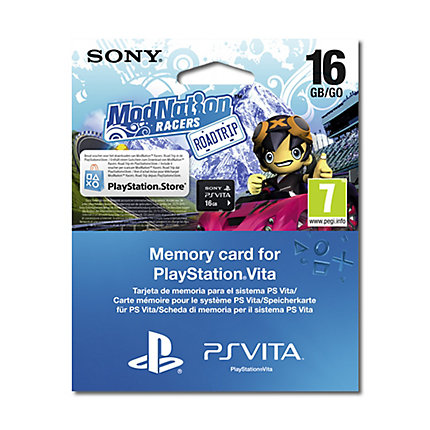 Memory Card 16 Gb Modnatio Racer Rt Voucher Sony Ps Vita