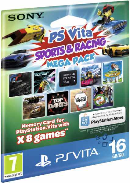 Memory Card 16 Gb Sports Racing Mega Pack 8 Juegos Sony P