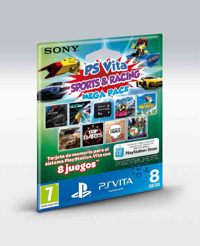 Memory Card 8 Gb Mega Pack Sr Ps Vita
