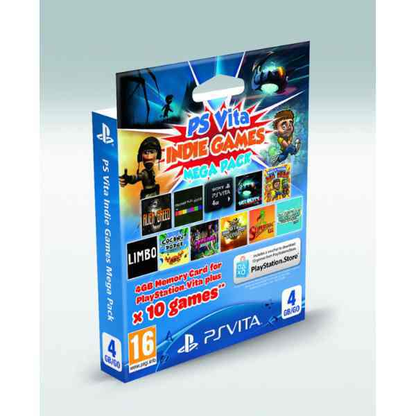 Memory Card Mega Indie Pack 4 Gb Sony Ps Vita