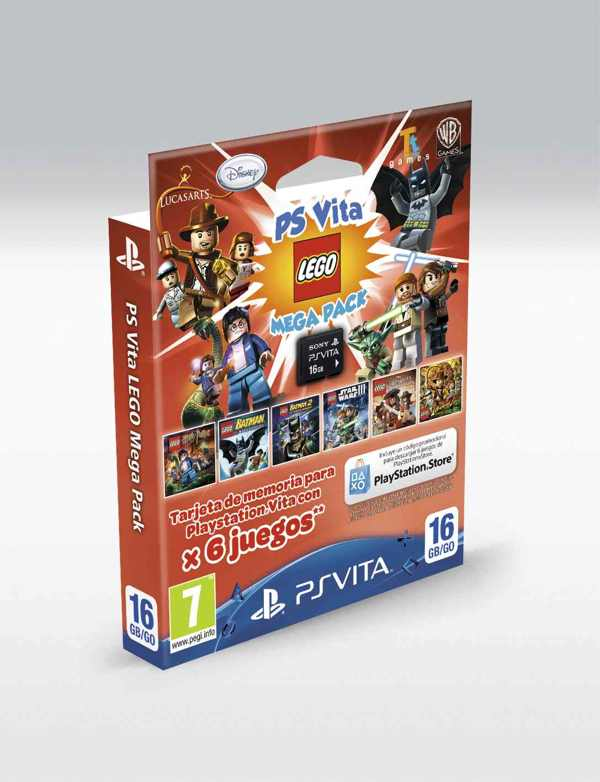 Memory Card Mega Pack Lego 16 Gb Sony Ps Vita