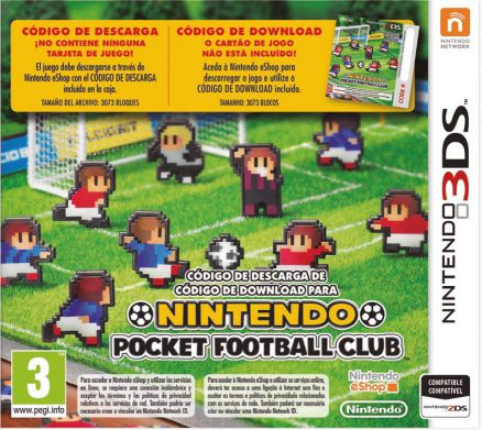 Ver Nintendo Pocket football Club Tajeta Descarga 3Ds