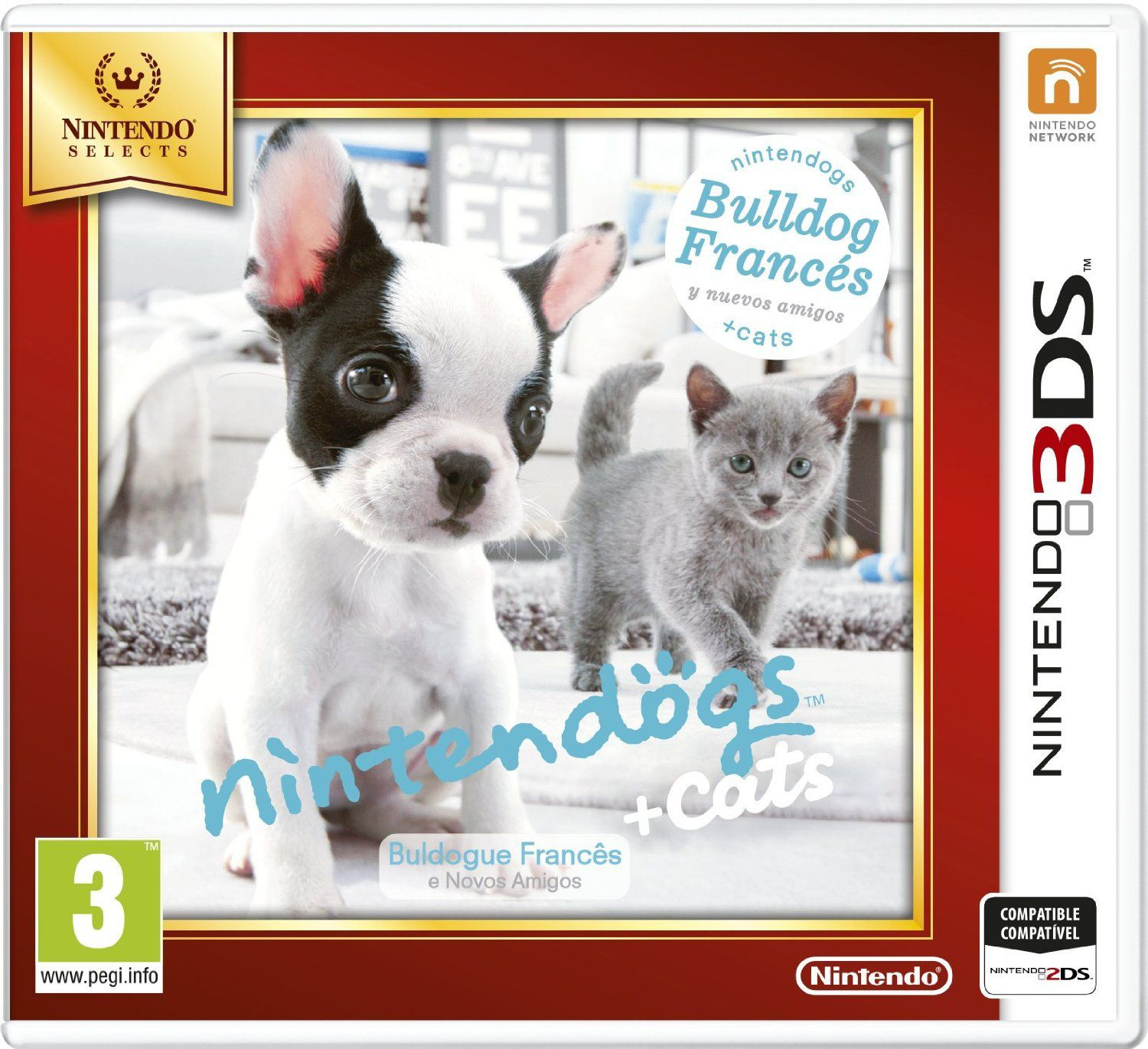 Ver Nintendogs Gatos Bulldog Selects 3Ds