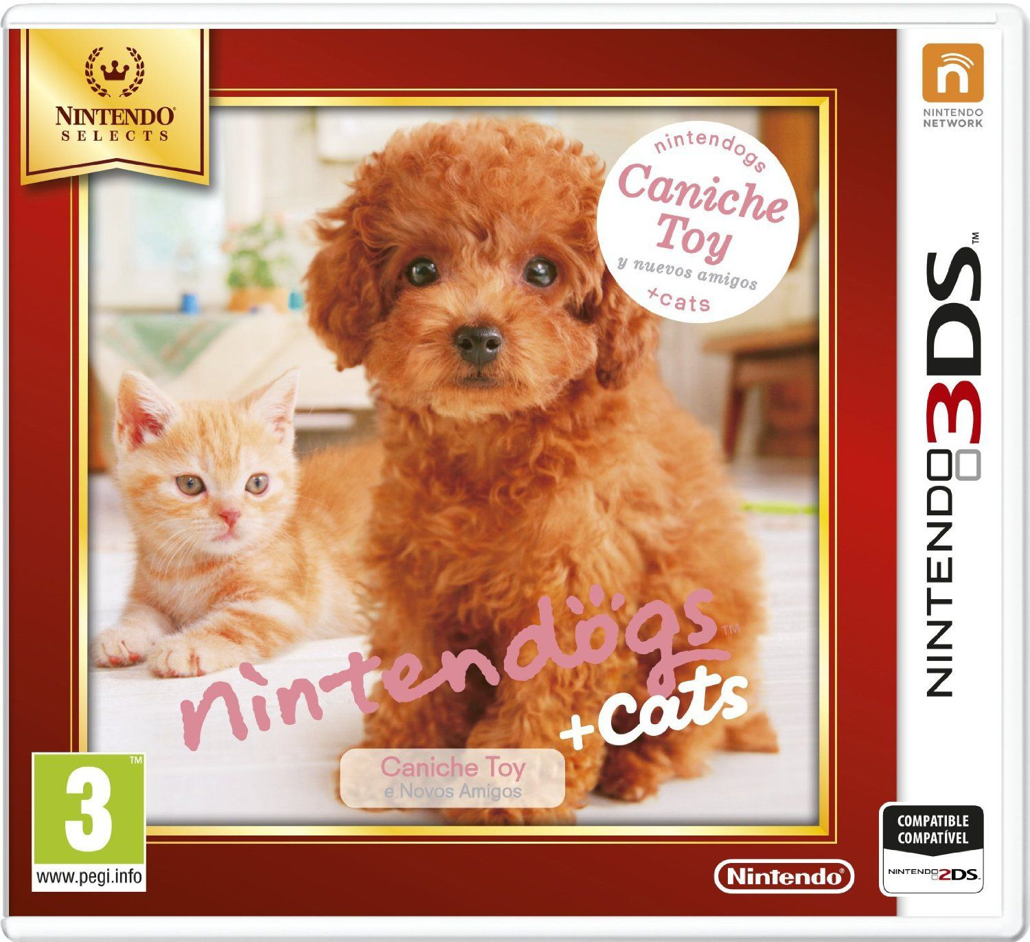 Ver Nintendogs Gatos Caniche Selects 3Ds