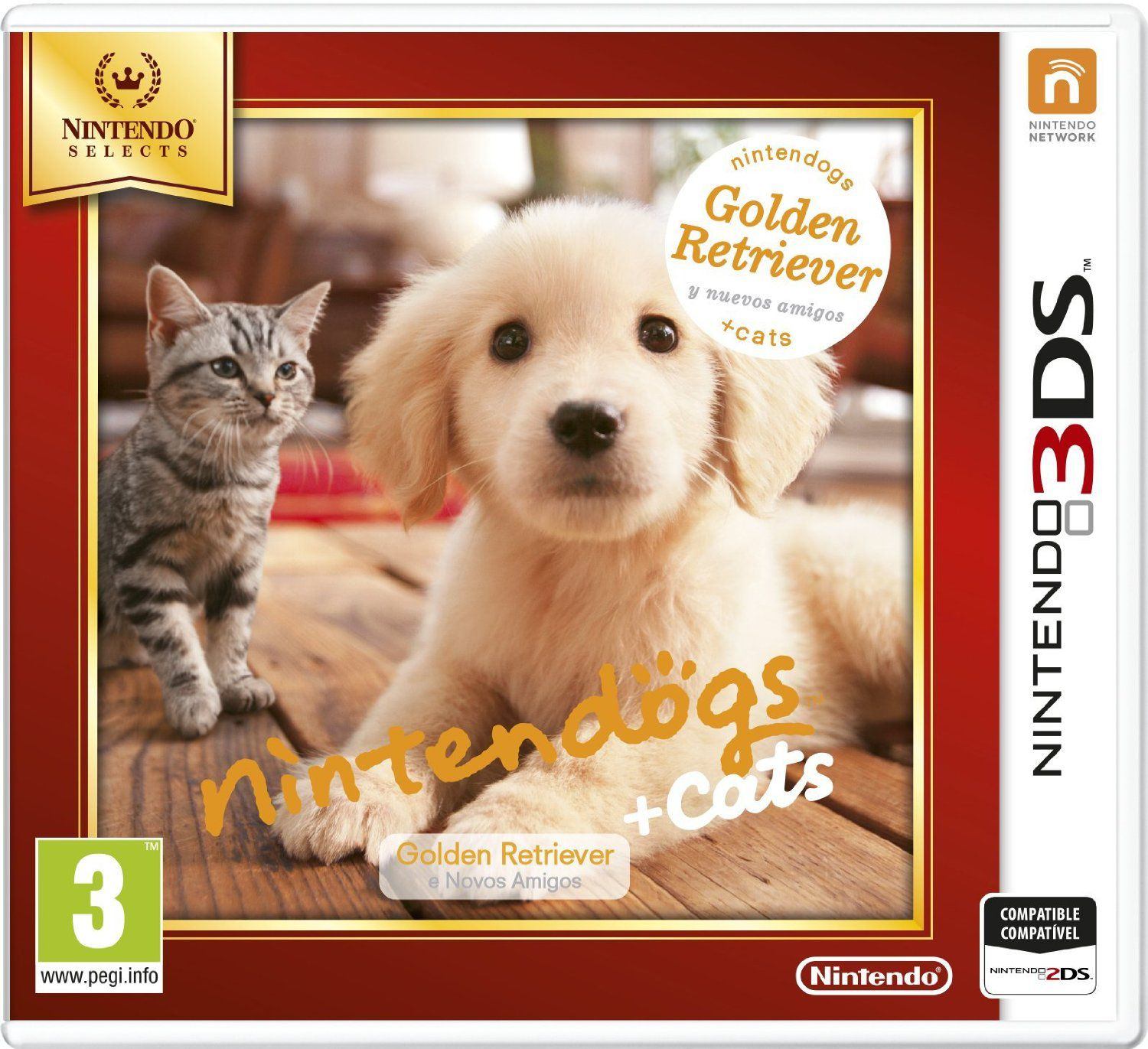 Ver Nintendogs Gatos Golden Retriever Selects 3Ds