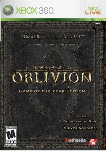 Oblivion Game Of The Year X360