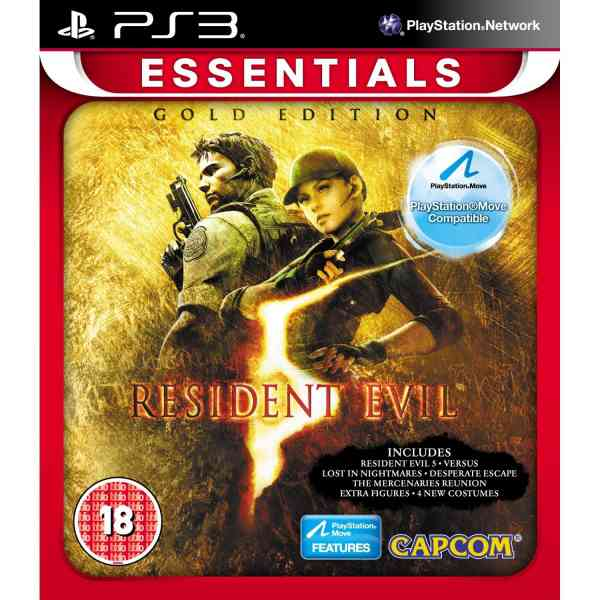 Ver RESIDENT EVIL 5 GOLD MOVE ESSENTIALS PS3