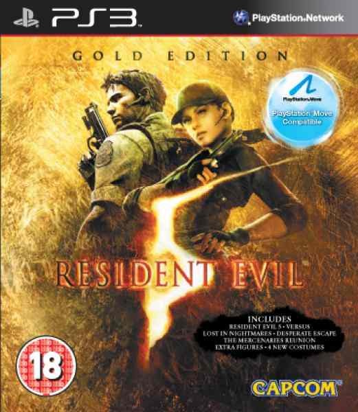 Resident Evil 5 Gold Move Ps3