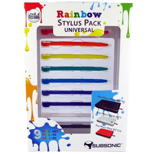 Rainbow Stylus Pack Universal Ds Ids I Xl3ds3ds Xl