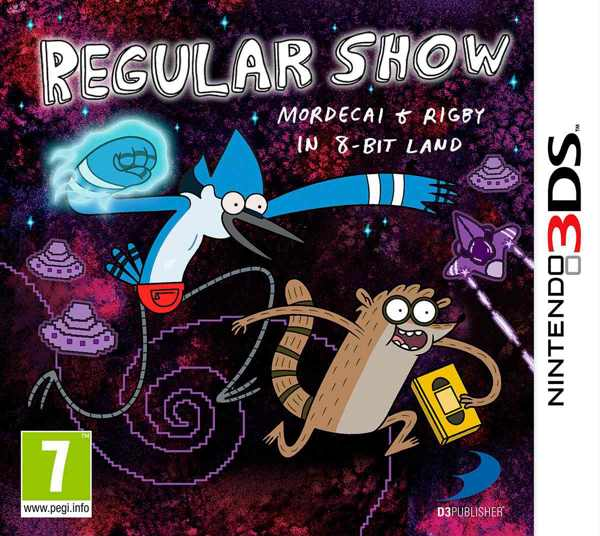 Regular Show Mordecai Rigby In 8 Bit Land 3ds