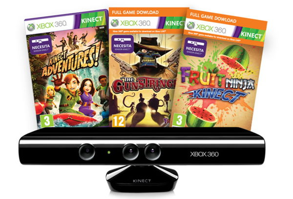 Sensor Kinect Gunstringer Kinect Advent Fruit Ninja X360 Kin