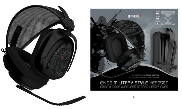 Stereo Headset Wireless Ex-05 Gioteck Ps3x360pc