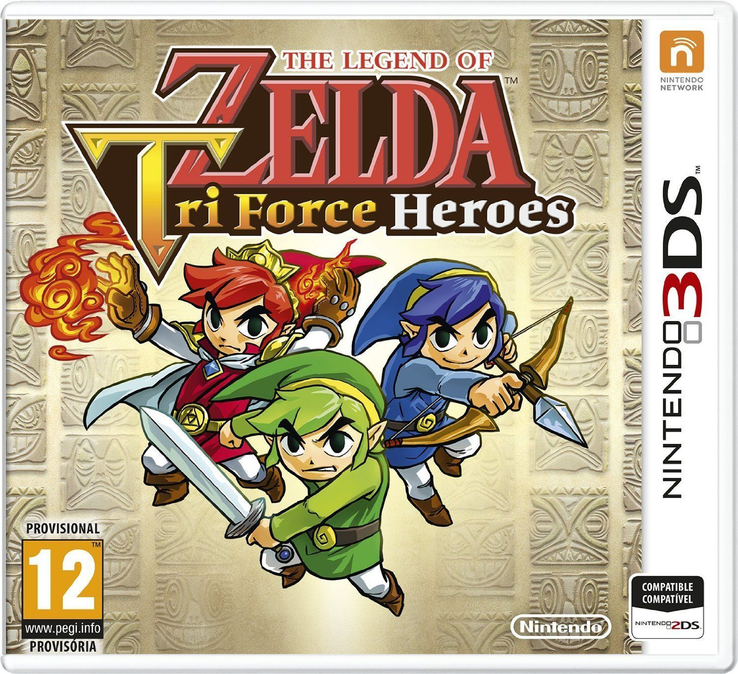 Ver The Legend of Zelda Tri Force Heroes 3Ds