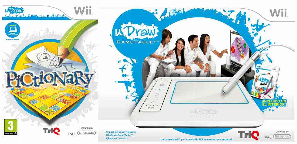 Udraw Studio   Pictionary Bundle Wii Tabl