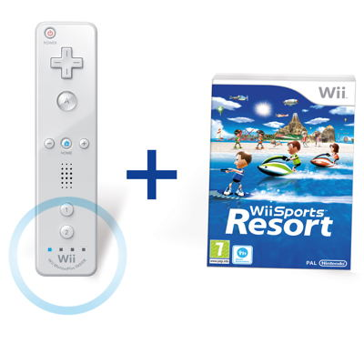 Wii Sports Resort   Remote Plus Wii