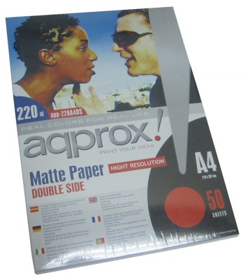 Approx Papel Mate A4 Doble Cara 50 Hojas 220g