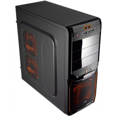 Aerocool Caja Semitorre V3x Advanblack Orange 30