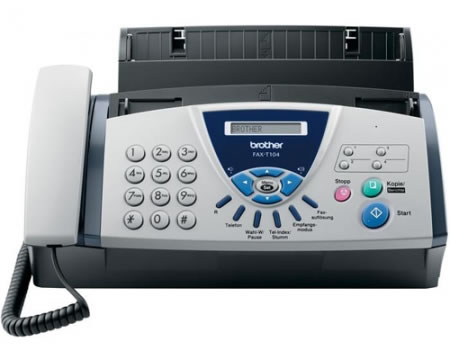 Ver BROTHER Fax T104 Transferencia sobre papel normal