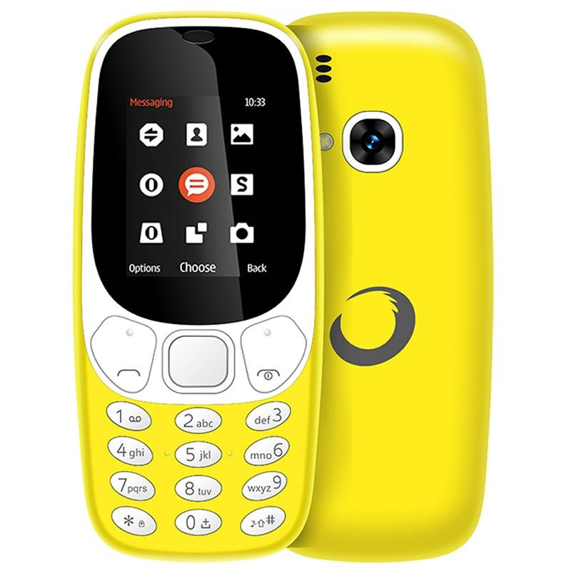 Ver Brigmton BTM4 Movil Senior 1 7 DualSim BT Amarillo
