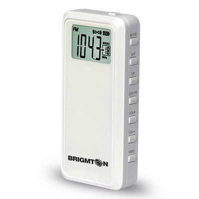 Brigmton Radio BT 123 B AMFM Digital MP3 Blanca