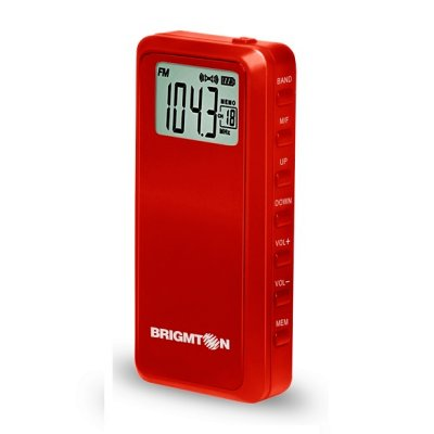 Brigmton Radio BT 123 R AMFM Digital MP3 Roja