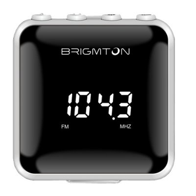 Ver Brigmton Radio BT 125 B FM Digital MP3SD Blanca
