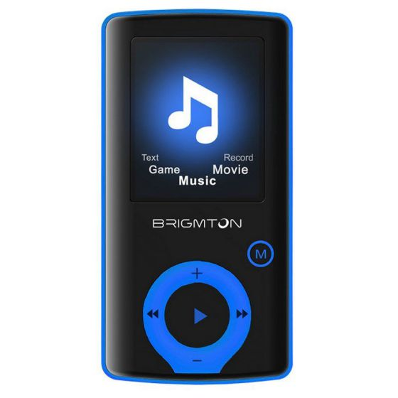 Ver Brigmton Reproductor MP4 BPA 81 8GB Azul