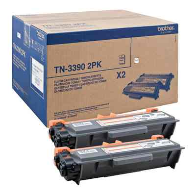 Ver Brother TN3390TWIN Toner Negro