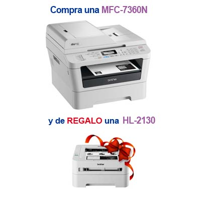 Brother Kit Mfc-7360n    Regalo Brother Hl-2130