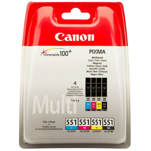 Ver CANON Cartucho CLI-551 Multipack IP7250MG5450
