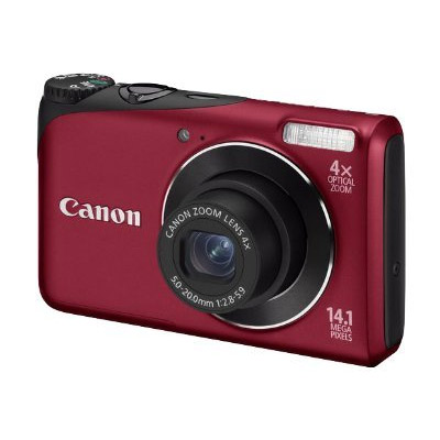 Canon Powershot A2200 14mp Zoom 4x Lcd 27 Roja