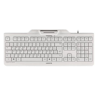 Ver Cherry Teclado lector chip integrado  DNIe  Blanco