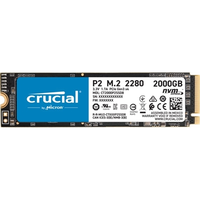 Crucial Ct2000p2ssd8 P2 Ssd 2000gb Nvme Pcie